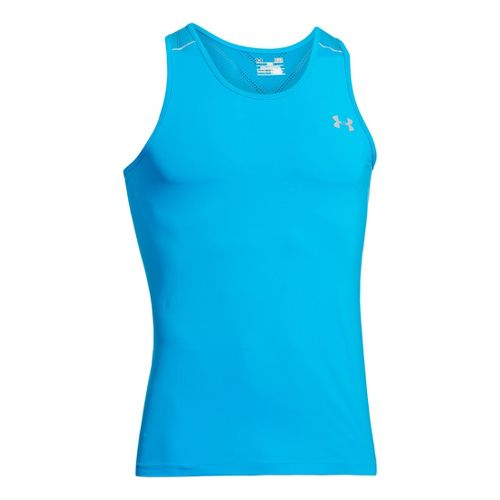 Mens Under Armour Armourvent Run Singlets Technical Tops - Electric Blue XL