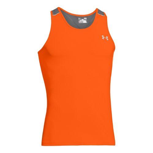 Mens Under Armour Armourvent Run Singlets Technical Tops - Orange L