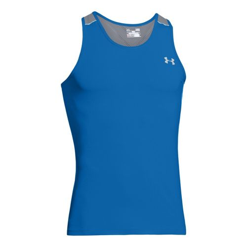 Mens Under Armour Armourvent Run Singlets Technical Tops - Superior Blue XL