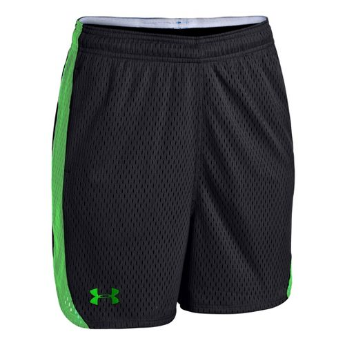 Womens Under Armour UA Trophy Lined Shorts - Black/Lizard L