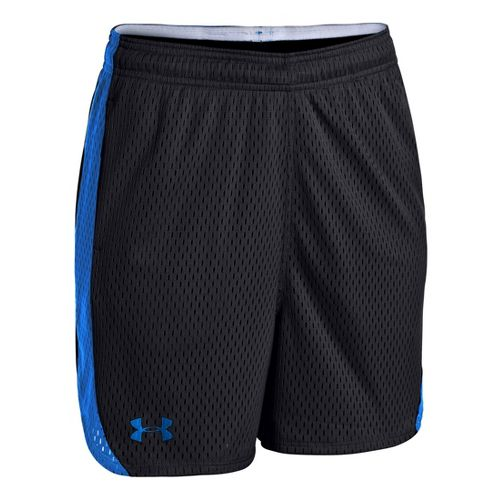 Womens Under Armour UA Trophy Lined Shorts - Black/Moon Shadow XL