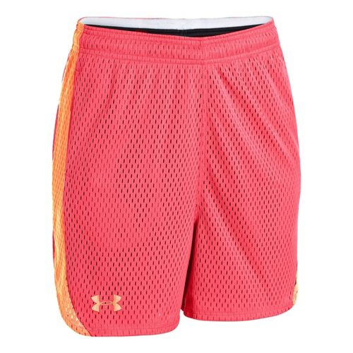 Womens Under Armour UA Trophy Lined Shorts - Brilliance/After Glow M