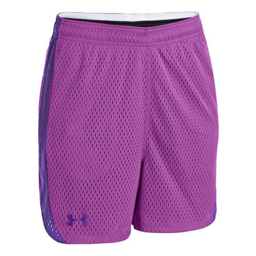 Womens Under Armour UA Trophy Lined Shorts - Exotic Bloom/Pride S