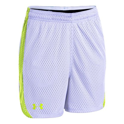 Womens Under Armour UA Trophy Lined Shorts - White/X-Ray M