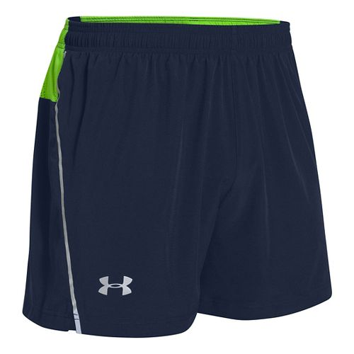 Mens Under Armour Armourvent Run Lined Shorts - Academy/Gecko Green L