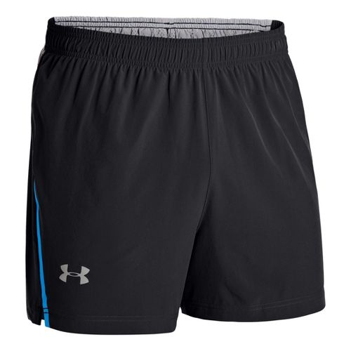 Mens Under Armour Armourvent Run Lined Shorts - Black XL
