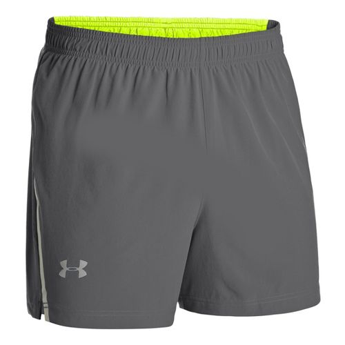 Mens Under Armour Armourvent Run Lined Shorts - Graphite M