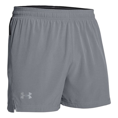 Mens Under Armour Armourvent Run Lined Shorts - Steel/Silver L