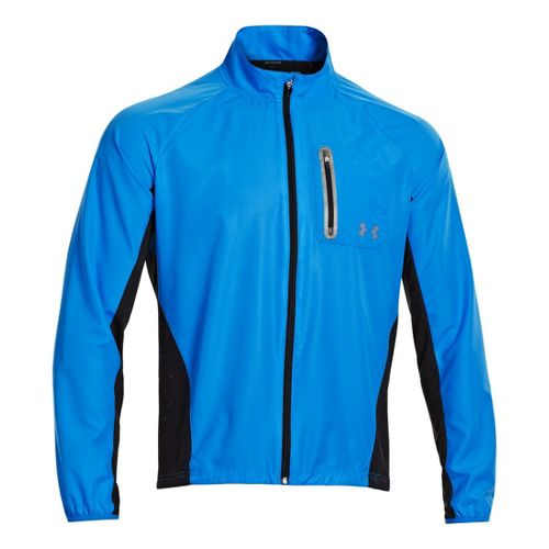Mens Under Armour Armourvent Running Jackets - Electric Blue L