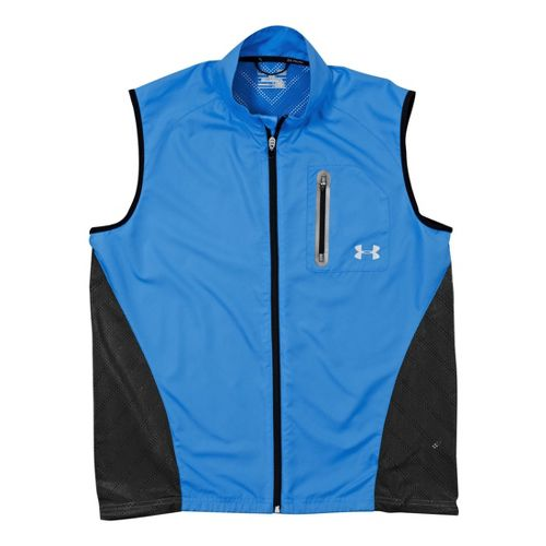 Mens Under Armour Armourvent Running Vests - Electric Blue L