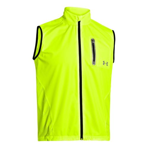 Mens Under Armour Armourvent Running Vests - High Vis Yellow L