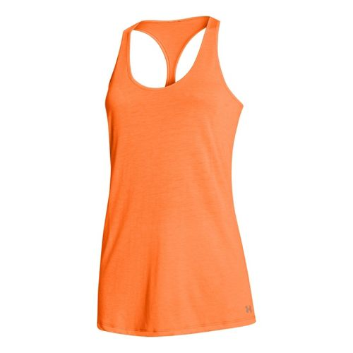 Womens Under Armour UA Achieve T-Back Tanks Technical Tops - Blaze Orange S