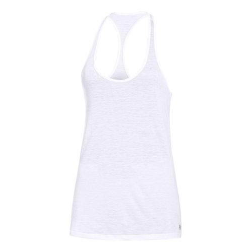 Womens Under Armour UA Achieve T-Back Tanks Technical Tops - White XS