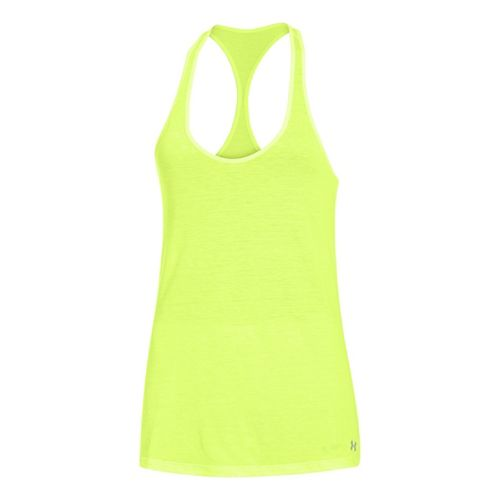 Womens Under Armour UA Achieve T-Back Tanks Technical Tops - X-Ray L
