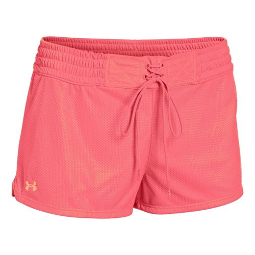 Womens Under Armour UA Upton Mesh Shorty Shorts - Brilliance/After Glow XS
