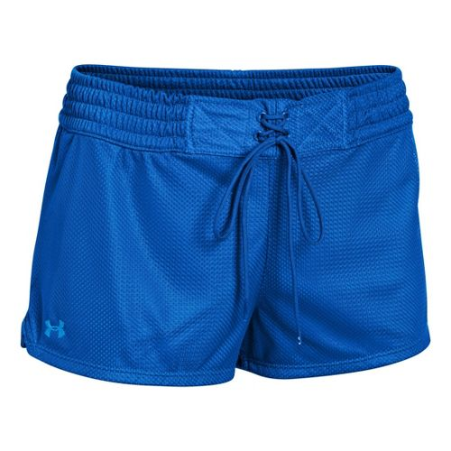 Womens Under Armour UA Upton Mesh Shorty Shorts - Moon Shadow/Electric Blue XS