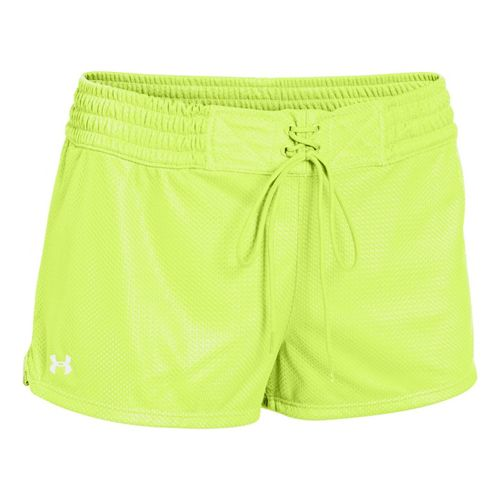 Womens Under Armour UA Upton Mesh Shorty Shorts - X-Ray/White L