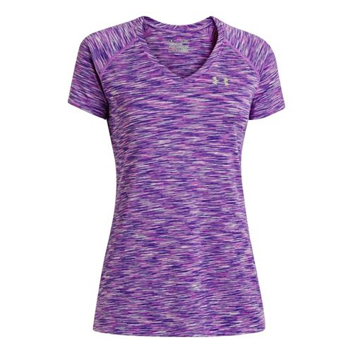 Womens Under Armour UA Tech T Space Dye Short Sleeve Technical Tops - Exotic Bloom ...