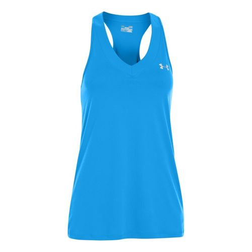 Womens Under Armour UA Tech Sleeveless Technical Tops - Electric Blue XS