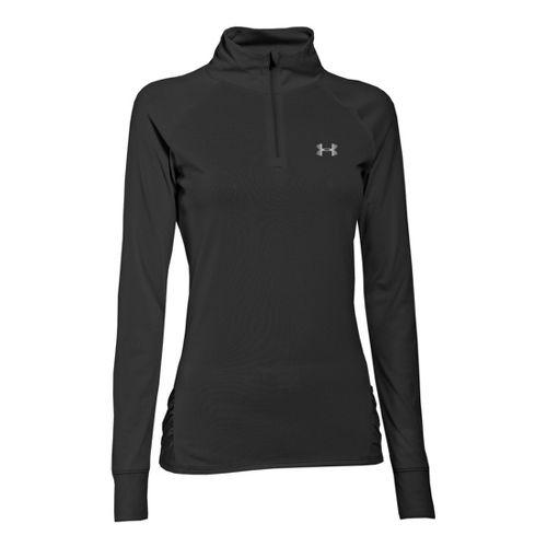 Womens Under Armour UA Tech Long Sleeve 1/2 Zip Technical Tops - Black XS