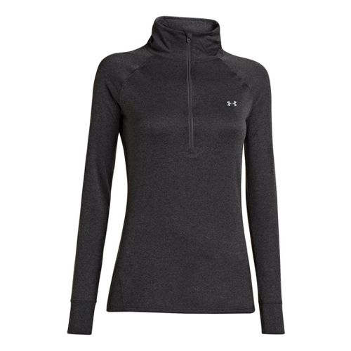 Womens Under Armour UA Tech Long Sleeve 1/2 Zip Technical Tops - Carbon Heather XS ...