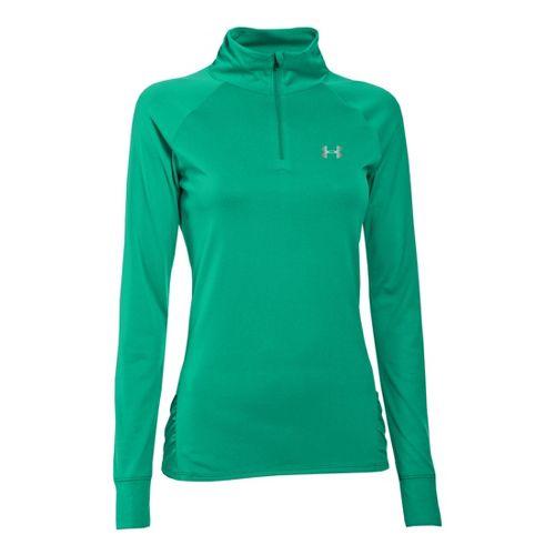 Womens Under Armour UA Tech Long Sleeve 1/2 Zip Technical Tops - Emerald Lake XL ...