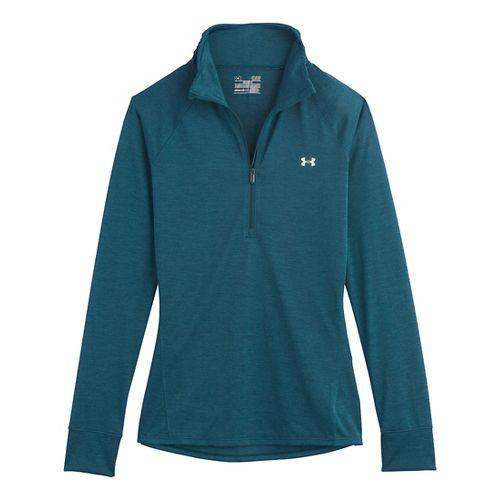 Womens Under Armour UA Tech Long Sleeve 1/2 Zip Technical Tops - Legion Blue XL ...