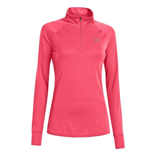 Womens Under Armour UA Tech Long Sleeve 1/2 Zip Technical Tops - Perfection L