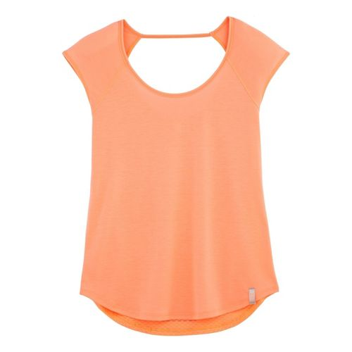 Womens Under Armour UA Fly-By T Short Sleeve Technical Tops - After Glow XS