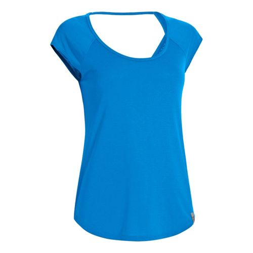 Womens Under Armour UA Fly-By T Short Sleeve Technical Tops - Electric Blue XS