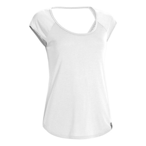 Womens Under Armour UA Fly-By T Short Sleeve Technical Tops - White XS