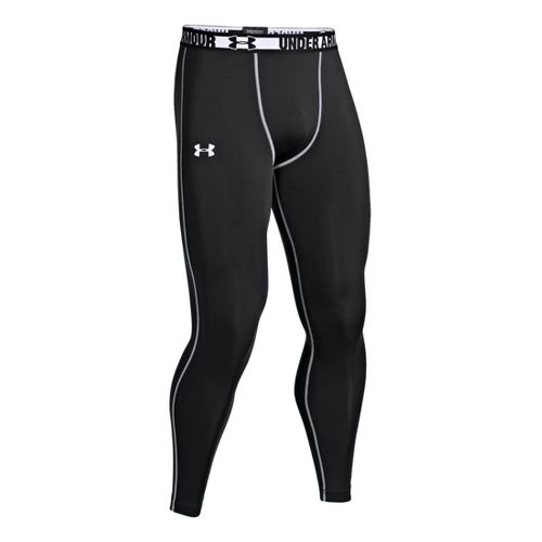 Mens Under Armour HeatGear Sonic Compression Leggings Fitted Tights - Black/White XXL