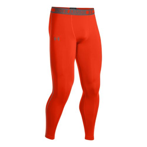 Mens Under Armour HeatGear Sonic Compression Leggings Fitted Tights - Volcano/Graphite M