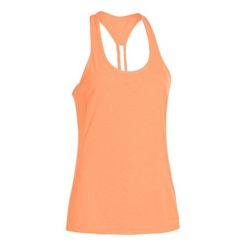 Womens Under Armour UA Fly-By-Stretch Mesh Tanks Technical Tops - After Glow L
