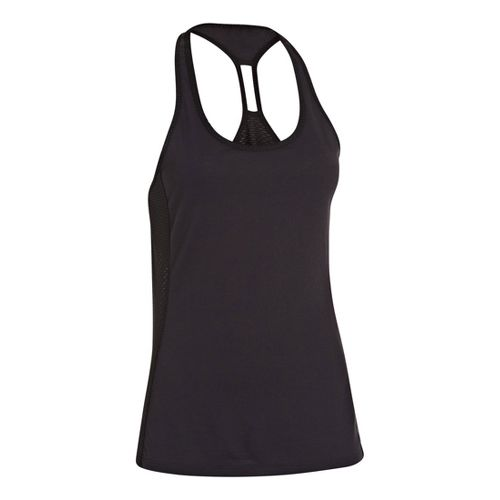 Womens Under Armour UA Fly-By-Stretch Mesh Tanks Technical Tops - Black XS