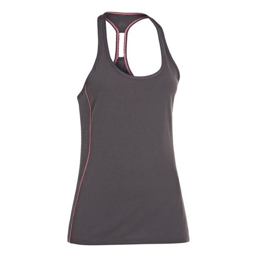 Womens Under Armour UA Fly-By-Stretch Mesh Tanks Technical Tops - Lead M