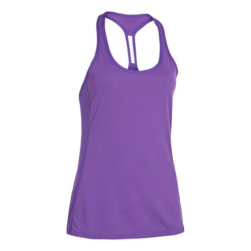 Womens Under Armour UA Fly-By-Stretch Mesh Tanks Technical Tops - Pride L
