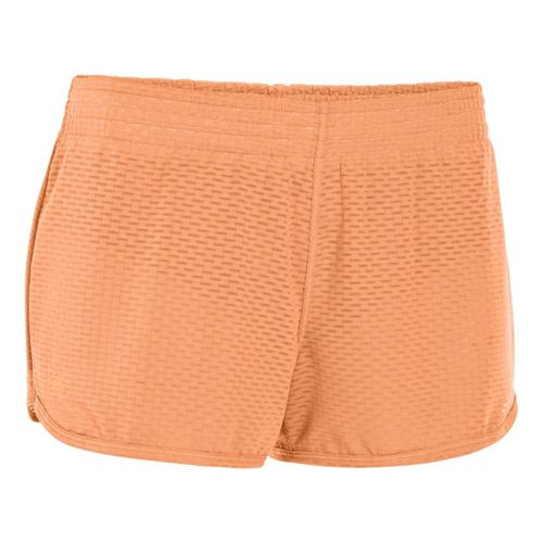 Womens Under Armour UA Fly-By Knit Lined Shorts - After Glow S