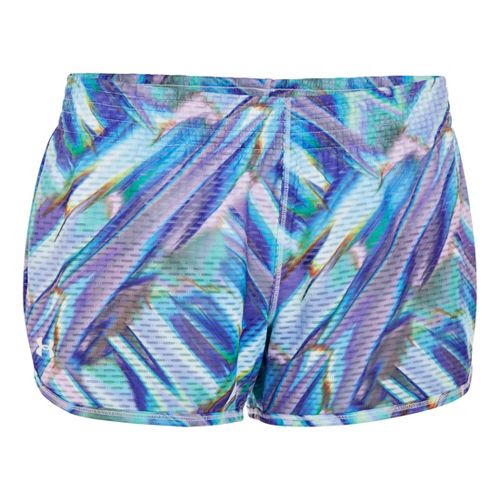 Womens Under Armour UA Fly-By Printed Knit Lined Shorts - White M