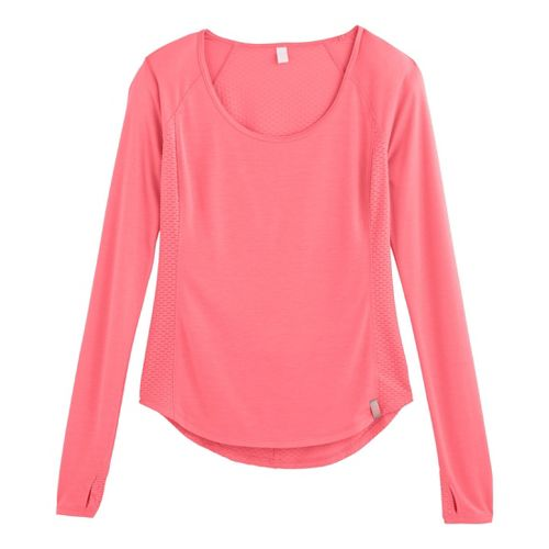 Womens Under Armour UA Fly-By Long Sleeve No Zip Technical Tops - Brilliance XL