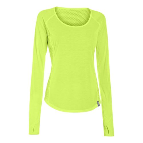Womens Under Armour UA Fly-By Long Sleeve No Zip Technical Tops - X-Ray S