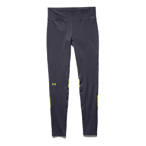 Womens Under Armour UA Fly-By Compression Legging Fitted Tights - Grey/Flash Light XS