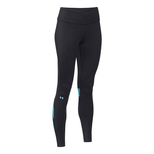 Womens Under Armour UA Fly-By Compression Legging Fitted Tights - Black/Veneer S