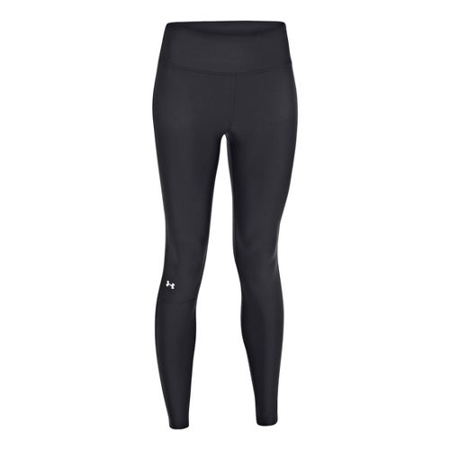 Womens Under Armour UA Fly-By Compression Legging Fitted Tights - Black/Pink Shock XS