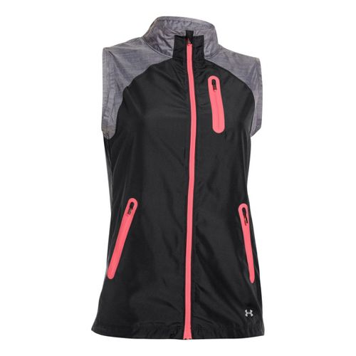 Womens Under Armour UA Qualifier Woven Running Vests - Black L