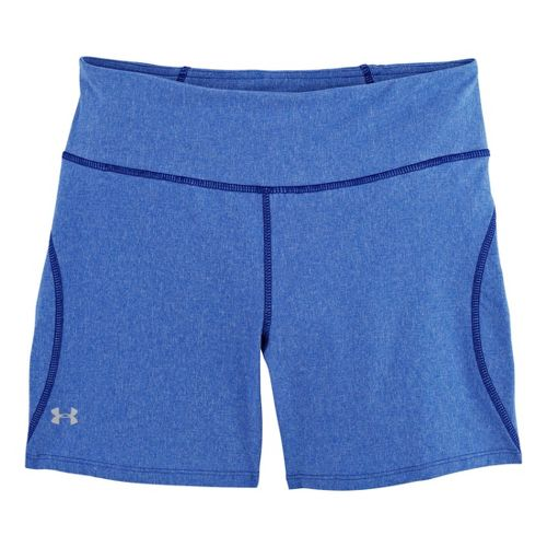 Womens Under Armour UA Stunner Unlined Shorts - Caspian Heather/Reflective XL