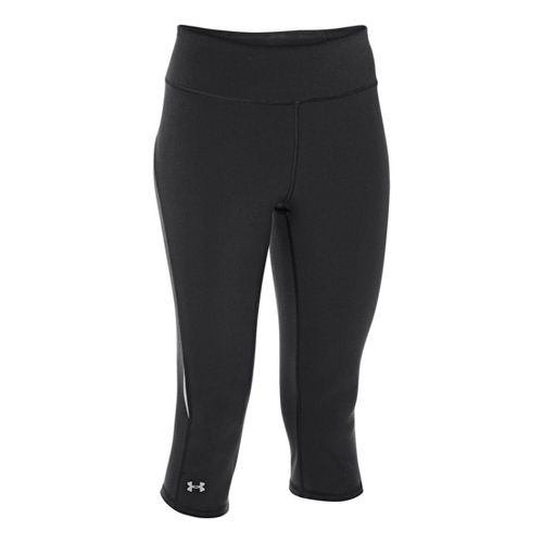Womens Under Armour UA Stunner Capri Tights - Black/Reflective XL