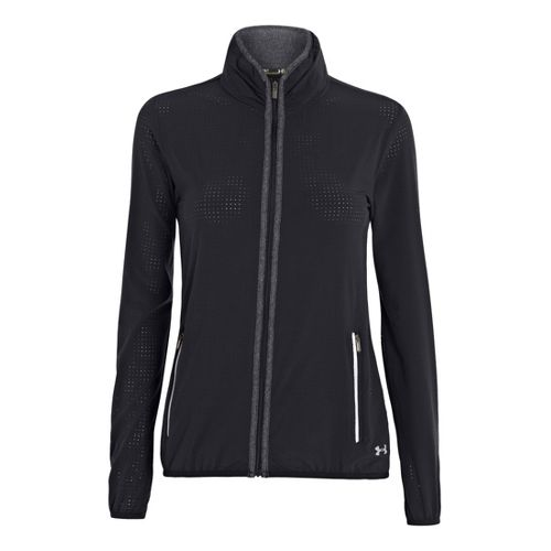 Womens Under Armour UA Stunner Running Jackets - Black L