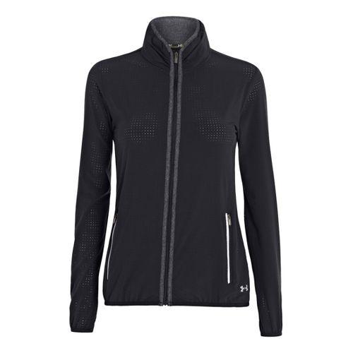 Womens Under Armour UA Stunner Running Jackets - Black XS