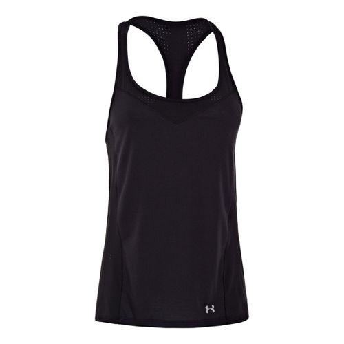 Womens Under Armour UA Stunner Perf Tanks Technical Tops - Black XS